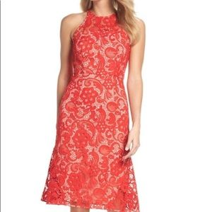 🆕 NWT gorgeous red lace midi dress 🆕